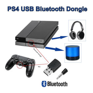 Bluetooth USB Adapter Wireless Mini Headsets Dongle ReceiverV4 for PS4 Stable
