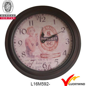 Round Wall Decor Vintage Retro Metal Clock pictures & photos