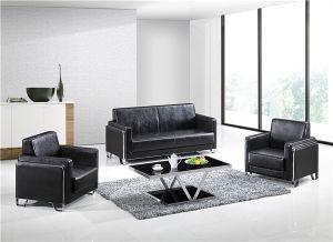Chrome Base PU/Leather Office Knock Down Sofa F-065 1+1+3 (1+1+2+3)