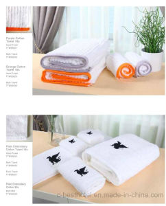 100% Cotton White Hotel Towel Sets pictures & photos