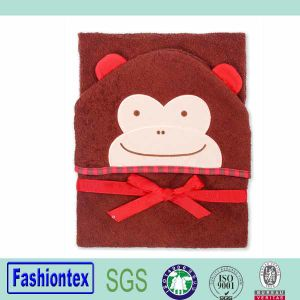 Luvable Friends Bath Towel 100% Cotton Monkey Beach Towel Child Hooded Towel pictures & photos