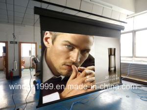 16 9 100 Inch HD Tab Tension Electric Projector Screen Front Projection pictures & photos