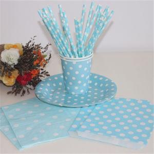 Wholesale Eco-Friendly Drink Striped Paper Straws with LFGB Certificate pictures & photos