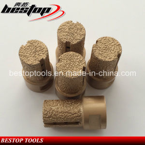 Vacuum Brazed Diamond Finger Bits for Stone and Concrete Milling pictures & photos