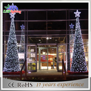 waterproof outdoor mall decoration metal frame led christmas tree light