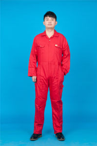 65% Polyester 35%Cotton Long Sleeve Safety High Quality Cheap Workwear Coverall (BLY1019) pictures & photos