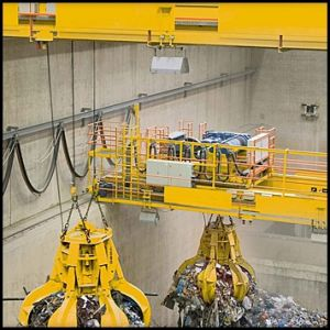 Wte Power Plant Use Refuse Handling Grab Crane
