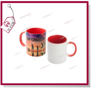 11oz Sublimation Two Tone Mug with Custom Photo pictures & photos