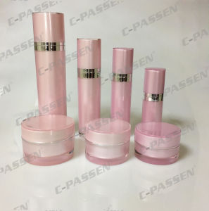 New Cosmetic Packaging Pink Acrylic Cream Jar Lotion Bottle (PPC-CPS-067) pictures & photos