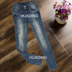 European Style Top Quality Women′s Fashion Jeans (HDLJ0035) pictures & photos