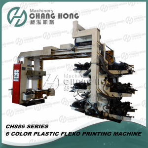 High Speed Six Color Flexo Printing Machine 80m/Min Printing Speed pictures & photos