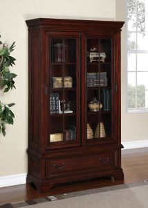 Sliding Door Furniture Bookcase Curio Home Cabinet