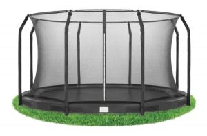 15FT Toy Inground Trampoline with Enclosure Net for Kids