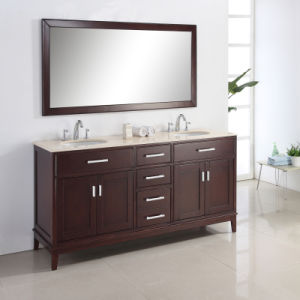 Luxury Glossy Design Double Sink Bathroom Furniture