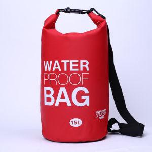 Promotional Outdoor Camping 15l Backpack Barrel Waterproof Dry Bag Yky7272