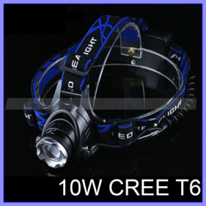 High Power Emergency Hammer Aluminum Zoom CREE Xmlt6 LED Headlight 2000lm 18650 Rechargeable Headlamp (1118) pictures & photos