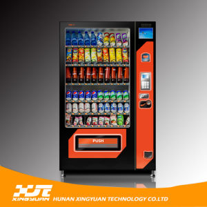 Combo Beverage Vending Machine with Touch Screen Xy-Dle-10c pictures & photos