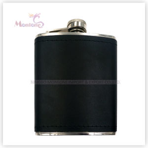 7ounce Liquor/Whisky Flask, Leather Covered Stainless Steel Hip Flask pictures & photos