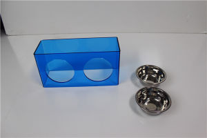Custom Plastic Acrylic Pet Bowl Pet Feeder Bowl pictures & photos