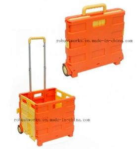Plastic Foldable Shopping Cart (FC401C) pictures & photos
