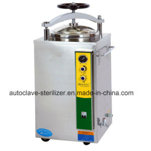 Hand Round Vertical Pressure Steam Sterilizer High Pressure Autoclave for Hospital Use