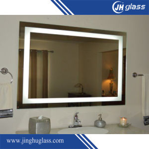 5mm Wall Mounted Aluminum Frame Ce Approved Hotel LED Lighted Bathroom Mirror