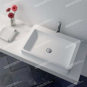One Piece Vanity Top Solid Surface Counter Top Wash Basin/Sink (JZ9025)