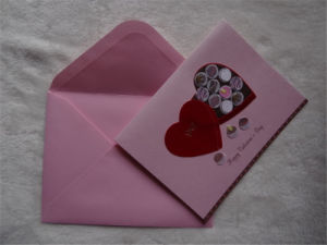 Handmade Decorated Greeting Card / Wholesale Christmas Greeting Card with Envelop pictures & photos
