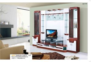 China High Gloss Living Room Furniture Wooden Tv Cabinet Wall Unit