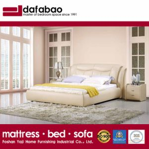 China Fashion Double Bed Design Modern Bedroom Furniture Leather Bed