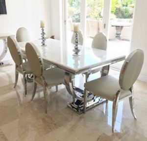 2017 Modern Home Marble Dining Room Table Set Wholesale Furniture China Foshan Furniture