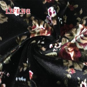 952ac1d7ae China Wholesale High Quality Korea Flower Printed Shiny Knit Polyester  Spandex Stretch Micro Velvet Fabric for Sofa Covering - China Velvet Fabric  for Sofa, ...