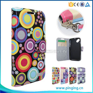 Flip Leather Mobile Phone Cases for Alcatel One Touch Flash 2 Case pictures & photos