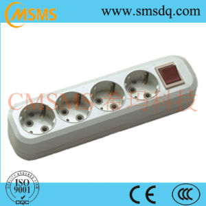 Euro Style 4-Way 16A Power Strip Socket and Switch Socket -SMS42400sg pictures & photos