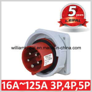 IP67 16A 3p+N+E Industrial Flanged Plugs pictures & photos