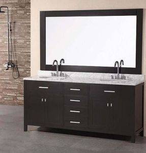 "Luxurious Solid Wood Bathroom Cabinet with ""Blum"" Hinges and Slides pictures & photos"