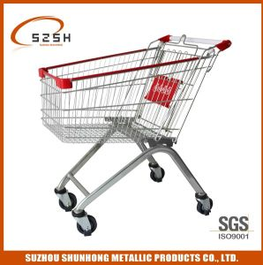 100L European Style Supermarket Shopping Trolley