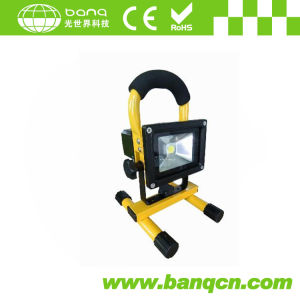 Portable Rechargeable LED Flood Light 10W IP65 CE, RoHS with Sos Signal