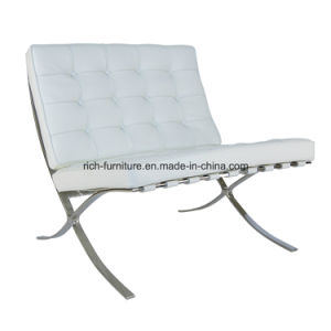 Modern Leisure Leather Lounge Barcelona Sofa Chair with Ottoman pictures & photos