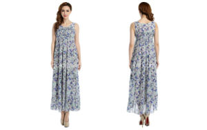 2015 Newest Fashion Printing Long Party Women Dress (60613205040)