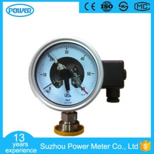 100mm 4′′ Stainless Steel Electric Contact Diaphragm Manometer pictures & photos