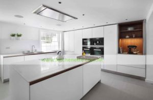 European Style White Matte Finish Kitchen Cabinets Wh D641
