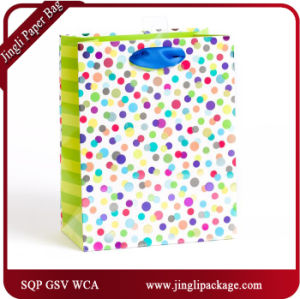Fashion Wrapping Shopping Gift Packing Floral Paper Bag with String pictures & photos