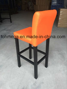 Orange Leather Bar Stools with Metal Leg (FOH-BS105) pictures & photos