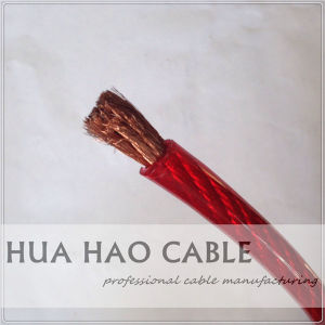 Copper Conductor PVC Sheath Red Transparent Car Power Cable/Car Battery Cable pictures & photos