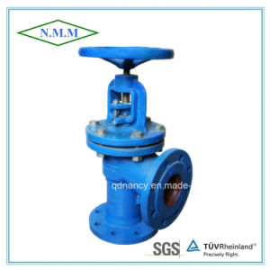 Cast Iron Flange Ends Angle Type Globe Valve pictures & photos