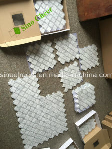 Carrara White Marble Mosaic, White Marble Stone Mosaic with Back Mesh pictures & photos