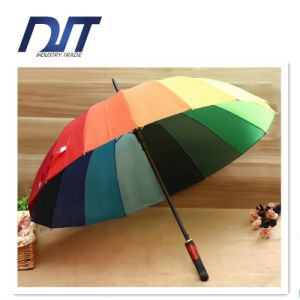 16k Korea Creative Rainbow Umbrella Long-Handled Automatic Umbrella Gift