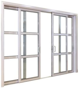 Hurricane Impact Cheap Thermal Break Aluminum Sliding Door With Ex Factory  Price