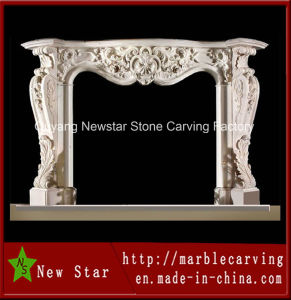 2016 New Design Home Decor Floral French Marble Fireplace Frame (NS-1203) pictures & photos